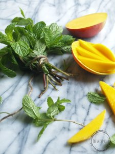 Mint and Mango for the Spicy Sambal Shrimp and Mango Salad