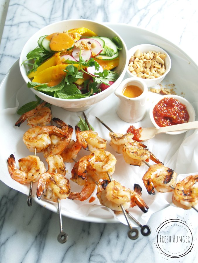 Spicy Sambal Shrimp and Mango Salad
