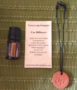 Terra Cotta Pendants - Car Diffuser