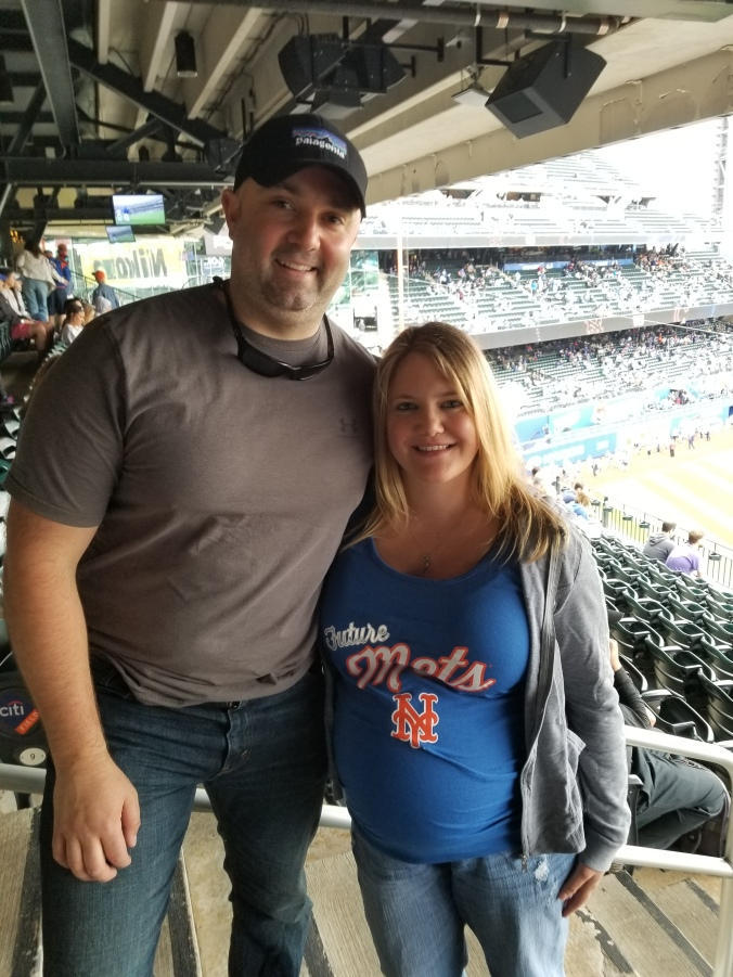 My husband, Jason & I at the NYM game